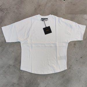 Palm Angels Black Back Written White Tshirt